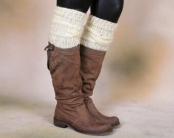 LEG WARMERS / Boot Socks / Boot Cuffs / Knit Leg Warmers / Knit Boot Socks