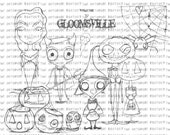 INSTANT DOWNLOAD  Gloomsville set of 8 images 2013