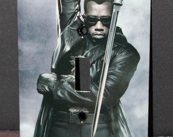 Blade Vampire Slayer Comic Book Switchplate Wall Plate Light Cover Horror Wesley Snipes African American Sword Hero