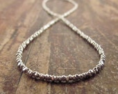 Gift for Women Hill Tribe Silver Beaded Necklace Chain 16 inches Silver Bead Necklaces Womens Jewelry Holiday Gifts for Her Girlfriend Wife