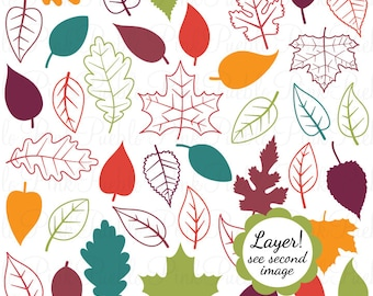 Leaves Photoshop Brushes, Fall Leaves Autumn Leaves Leaf Photoshop Brush - Commercial and Personal Use