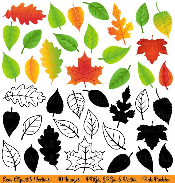 Leaves Clipart Clip Art, Fall Leaves Autumn Leaves Leaf Clipart Clip Art - Commercial and Personal Use