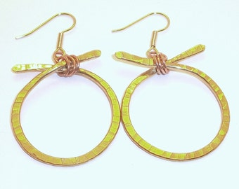 Bronze & Copper X and O Earrings Free Shipping
