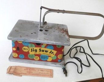 Childs Electric Toy Jig Saw Jr Circa 1950s