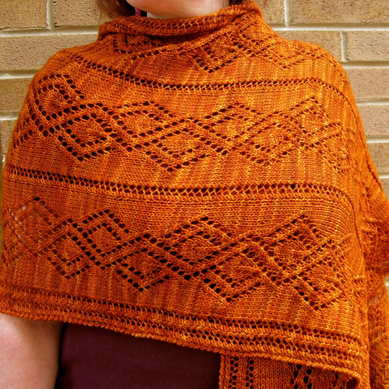 Vandyke Lace Knitting Pattern : Knit Wrap Pattern: Vandyke Lace Shawl Knitting Pattern