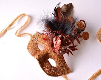 MASK- Pheasants In Flight - masquerade mask, Mardi Gras, fairy,Venetian, Halloween