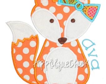 Foxy Girl Applique Design