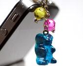 Phone Plug - Kawaii cute gummy candy bear dustplug phoneplug - miniature food mobile cell accessories