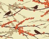 Joel Dewberry AVIARY 2 - Sparrows in Bark JD41 - Free Spirit Fabric - 1 Yard
