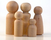 Wooden Peg Dolls - 50 Moms - Paint It Yourself Wood People