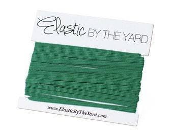 KELLY GREEN Skinny Elastic for Baby Headbands 1/8 inch - 5 yards