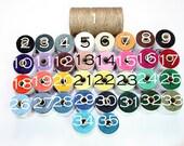 Waxed Irish Linen Thread  4Ply 100 yards - any 10 colors