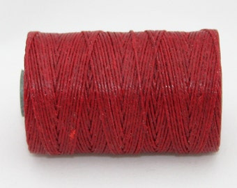 Waxed Irish Linen Thread Country Red 4 Ply