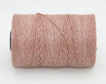 Waxed Irish Linen Thread Victorian Rose 4 Ply