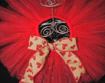 Valentines Newborn Tutu - Long Red Newborn Tutu - Long Valentines Red Newborn Tutu - Burlap