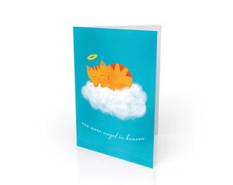 Cat Sympathy Card - Pet Sympathy Card - Cat Angel Sympathy Gift