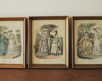 Vintage La Mode illustree Fashion Print Frames, Vitorian Woman,Vitorian Fashion