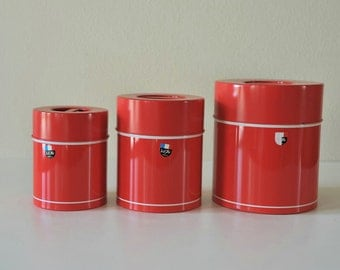 Vintage Modern Tin Nesting Canisters