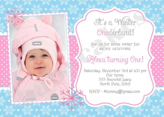 winter onederland party invitations – gangcraft, Birthday invitations