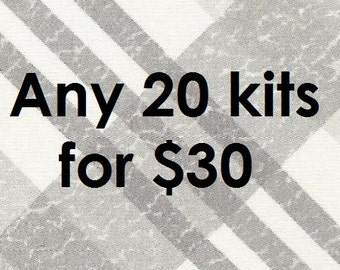 Any 20 kits for 30.00 craft kit for kids birthday party favor decoration arts and crafts stocking stuffer or scrapbooking