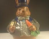 Music Box, Ceramic Rabbit Roly Poly