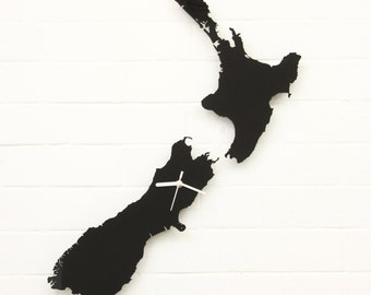 New Zealand clock (Black)