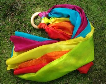 Waldorf Play Silk Kite, Montessori Toys Playsilk Hand Streamer