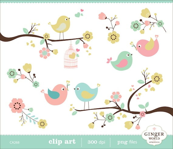 clipart flowers and birds - photo #9