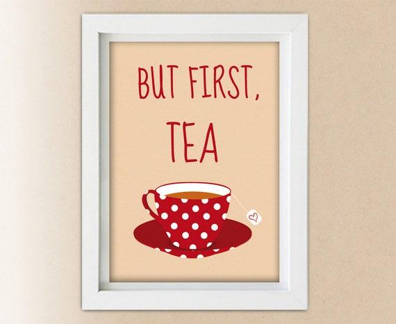 Items Similar To Kitchen Decor Teapot But First Tea
