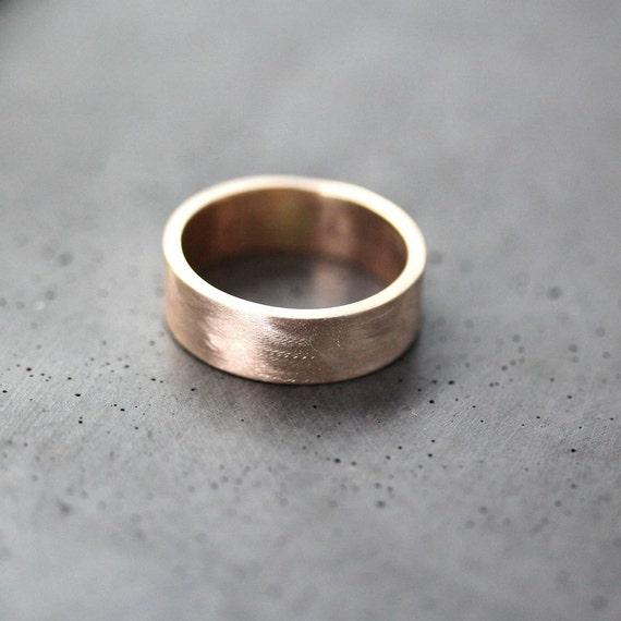 Goldring breit herren  Herren Gold Eheringe 7 mm breit gebürstetem flach 10k