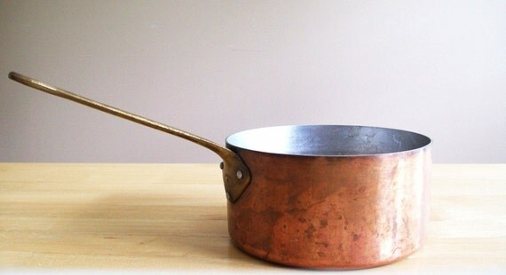 Vintage French Copper Pot La Belle Cuisine