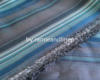 """silk fabric, yarn dyed stripes weaved silk fabric, half yard by 44"""" wide"""