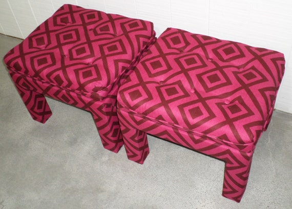 Parson's Ottomans - Custom Built - Design Your OWN In Any Fabric