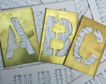 5 inch Letter pick your letter 7 inch Brass Stencil