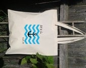 Wedding Welcome Bags-Personalized Wedding Tote- Nautical Wedding Tote - Chevron Pattern with Anchor