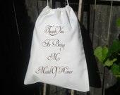 10x12 Drawstring Bags- Wedding Favor-Party Favor - Premium -Muslin Bag -Maid Of Honor Thank you