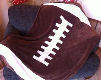 Warm cozy child's football blanket