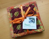 Quilted Coaster Set - Autumn Leaves