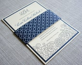 Letterpress Iron Gate Scrollwork Wedding Invitation