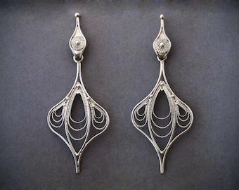 Earrings in italian filigre