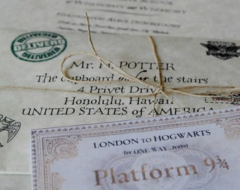 Harry Potter Gift 'Lost in the Mail' Hogwarts Acceptance Letter with Hogwarts Express Ticket