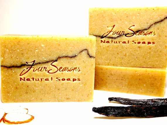 ORGANIC SOAP- Mexican Vanilla & Almond  / Handmade Gift  for Her or Him / Sweet Exotic Vegan Natural Scented with Essential Oils