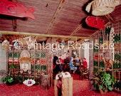 Vintage Trader Vic's - Portland, Oregon. Tiki Bar color print from original 1959 large format negative. Tiki Bar Decor #TVF