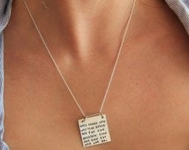 Only those who Will Risk Going to Far Quote, Inspirational Necklace for Grad, Square Necklace, Going the distance