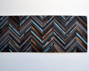 Wood Wall Art - Chevron Headboard - Reclaimed Wood - Queen Headboard