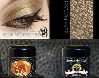 Golden Brown Mineral Eye Shadow  Scaredy Cat - Bear Necessities - 5 mL Sifter