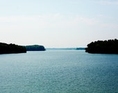 Lake Print - Fine Art Photography, Landscape Photography Lake Norman, Lakeshore, Blue Photo, North Carolina Art, wall art, home decor, lake - kimfearheiley