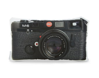 Vintage Leica M6 Printed Camera Pillow