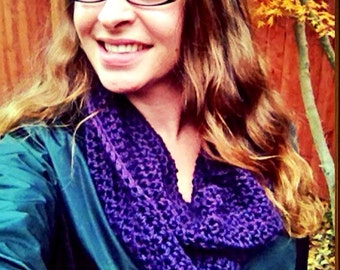 Chunky cowl  infinity scarf- crochet made to order