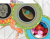 "Mexican Fiesta Party Printable 4"" Themed Party Circles by Cutie Putti Paperie"